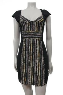 Free People Black Shimmer Textured Dress