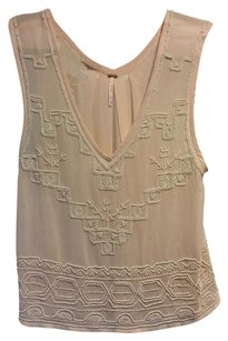 Free People Top Pink Nude Peach