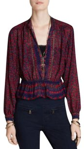 Free People Top Blue, red