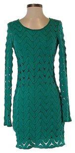 Free People Wave Pattern Shift Sheath Longsleeve Dress