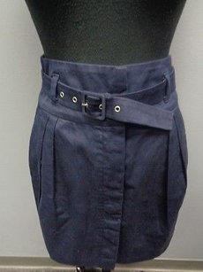 French Connection Navy Mini Skirt Blue