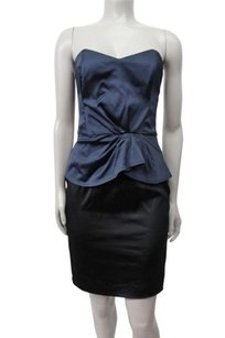 French Connection Winter Love Strapless Peplum Dress