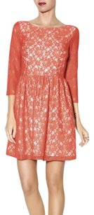 French Connection short dress Red Longsleeve Lace A-line on Tradesy