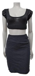 French Connection Petite Skirt Navy