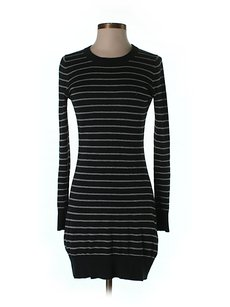 French Connection Striped Knit Bow Accented Dress