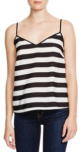 French Connection Tank Stripe Striped Cami Top black & white