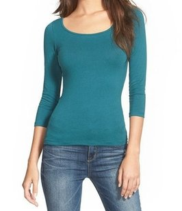 Frenchi 100-cotton 3-4-sleeve Top