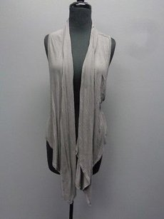 Frenchi Asymmetrical Hem Stretchy Rayon Open Front Vest Sm10587 Sweater