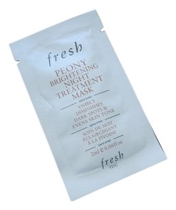 Fresh Fresh Peony Brightening Night Treatment Mask Diminishes Dark Spots and Even Skin Tone 2ml/.06fl oz