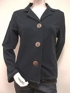 Fresh Produce French Terry Stretch Cotton Blend 30050 Black Jacket