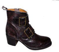 Frye Sabrina Double Buckle Brown Boots