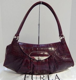 Furla Italy Croc Shoulder Bag