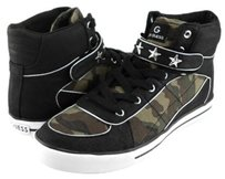 Guess G By Online Black Camouflage Womens Designer High Top Sneakers Multi-Color Athletic