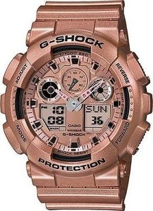 G-Shock G Shock Mens Watch Rose Gold Tone Ga-100gd-9a Digital Day Date Display