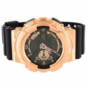 G-Shock Ga110rg-1a Rose Gold Tone Watch G-shock Black Resin Band Analog Digital Custom