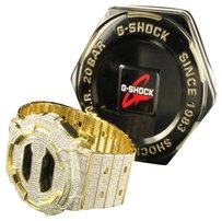 G-Shock Mens Ga100 G Shock Digital Rodeo Watch Jojo Jojino Iced 14k Yellow Gold Finish