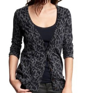 Gap Leopard Print Cardigan Infused With Savage Style Sweater