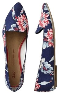 Gap Floral Pointed Toe Casual Navy Flats