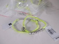 Gap Lot Of Gap Woven Rope Crystal Toggle Friendship Bracelet Ea Yellow