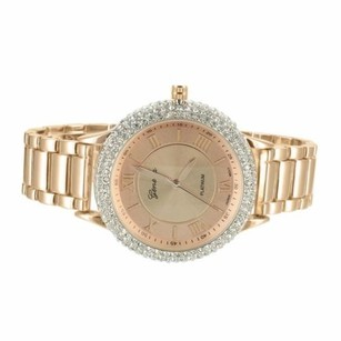 Geneva Platinum Rose Gold Tone Watch Simulated Diamond Bezel Roman Numbers Geneva Jojino Jojo
