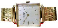 Geneve Vintage Universal Geneve 14k Yellow Gold Mechanical Square Mens Watch 57.3g