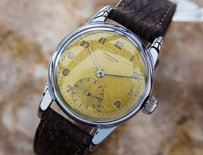Geneve Universal Geneve Swiss Made Mens Dress Watch Military Style Circa 1940s L184