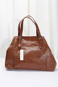 GERARD DAREL Stamped Tote in Brown