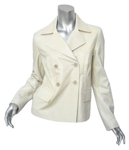 GERARD DAREL Leather Coat M36 Whites Jacket