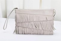 GERARD DAREL Leather White Clutch