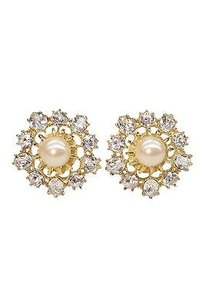 Gerard Yosca Gerard Yosca Pearl Princess Earrings Gunmetal