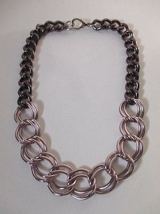 Gerard Yosca Gerard Yosca Purple Double Link Short Necklace