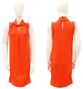 Giambattista Valli short dress Orange Sleeveless Shift Beaded Keyhole on Tradesy