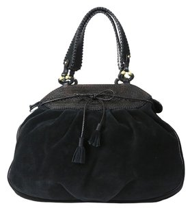 Gianfranco Ferre Giafranco Suede Hobo Bag