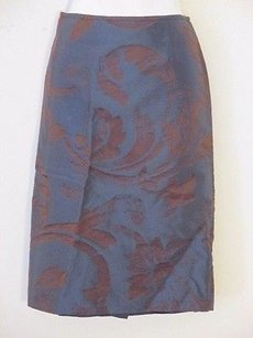 Gianfranco Ferre Silk Straight Skirt Blue burg