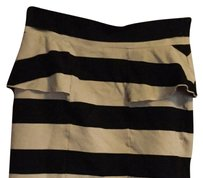 Giani Bernini Skirt Tan And Black Striped