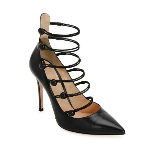 Pumps Marquis leather black Gianvito Rossi