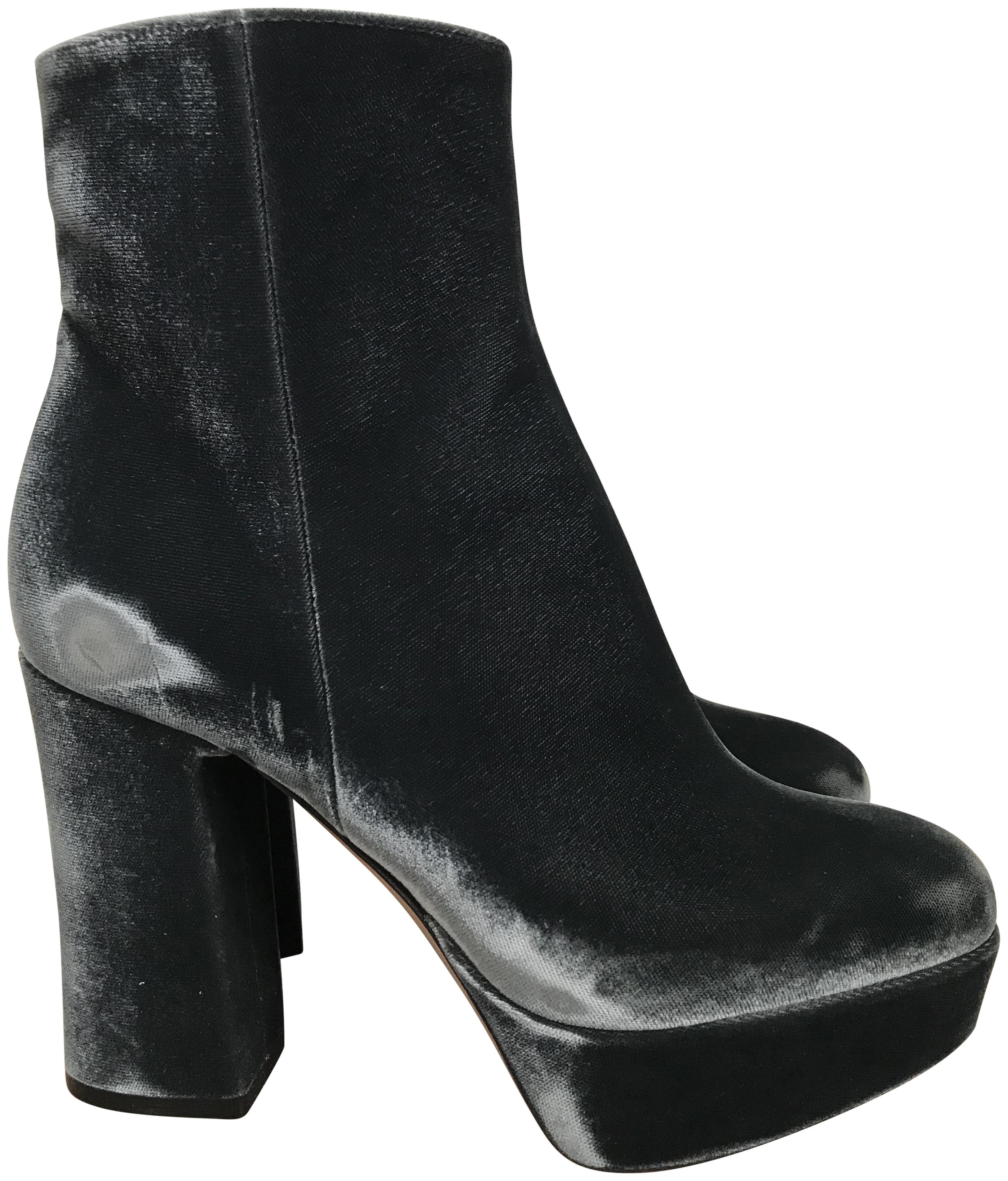 Gianvito Rossi Suede Platform Ankle Boots genuine sale online free shipping prices how much for sale Nx2te
