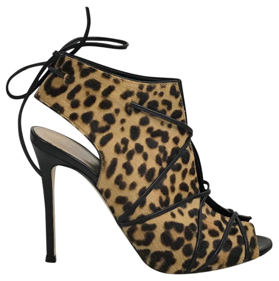 Gianvito Rossi Ponyhair Peep-Toe Booties lowest price sale online clearance online ebay discount affordable 5SU2o