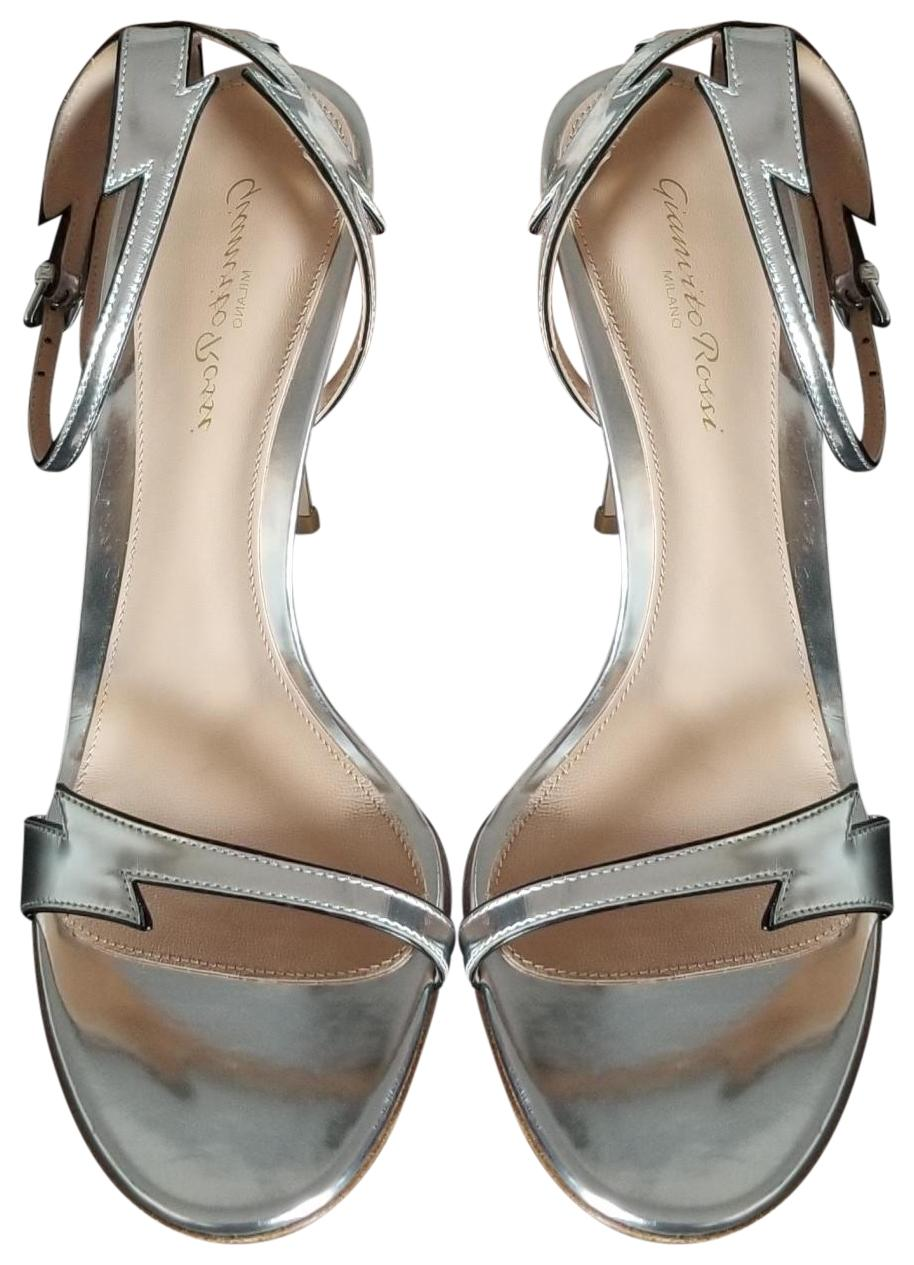 Gianvito Rossi Silver New Sparkle Sandals US Size EU 40 (Approx. US Sandals 10) Regular (M, B) 34f147