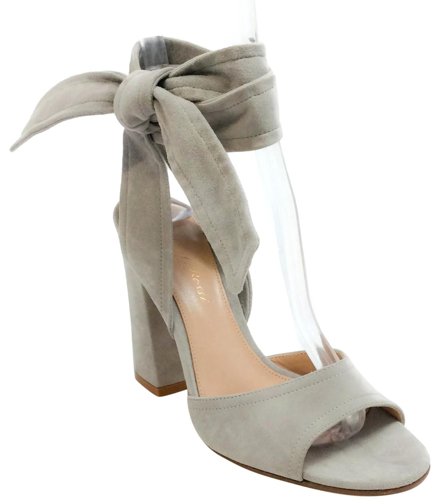 discount clearance 2014 cheap sale Gianvito Rossi Tan Suede Silver ... clearance extremely o0H2jCSg