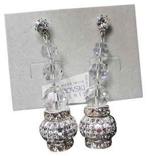 Giavan Giavan HOL584E-sm (e-20) Crystal Drop Earrings with Swarovski Charm