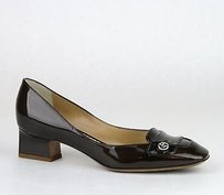 Giorgio Armani Patent Leather Brown Pumps