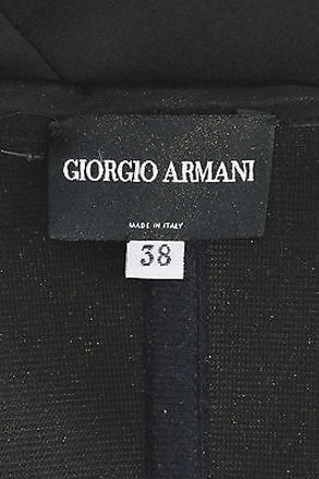Giorgio Armani Black Satin Layered Hem Strapless Bustier Corset Top high-quality