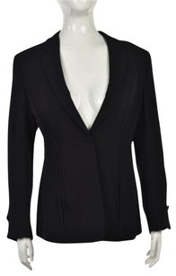 Giorgio Armani Giorgio Armani Womens Black Blazer Long Sleeve Wtw Silk Blend Jacket