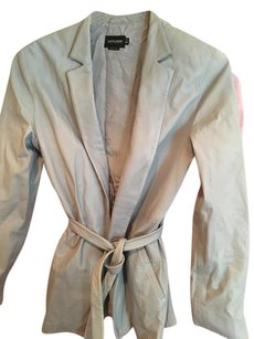 Giorgio Armani Light blue Leather Jacket