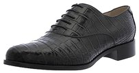 Giorgio Armani Blk Croc Embossed Leather Oxfords Xgdi34 Eu Black Flats
