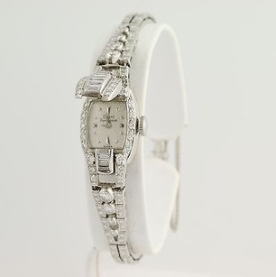 Girard-Perregaux Girard Perregaux Diamond Wristwatch 12 - 14k White Gold Serviced 3.57ctw