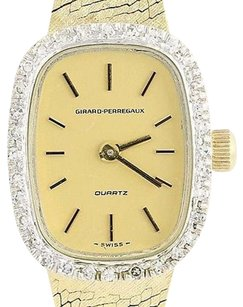 Girard-Perregaux Girard-perregaux Ladies Diamond Watch - 14k Yellow White Gold Quartz .33ctw