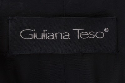 Giuliana Teso Full Length Wool Cashmere Belted Hooded Fur Coat