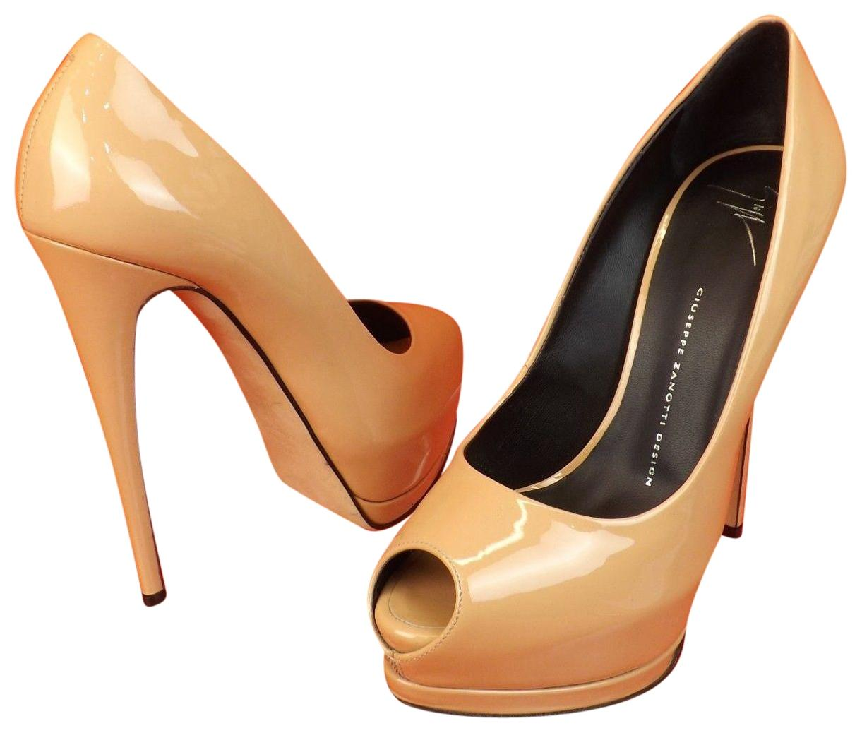 Giuseppe Zanotti Woman Patent-leather Pumps Sand Size 40 Giuseppe Zanotti Clearance Get Authentic Cheap Sale Best Store To Get 81oG4Z